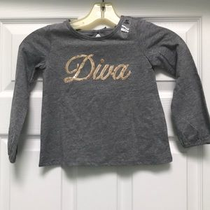 Children's place NWT diva long sleeve top